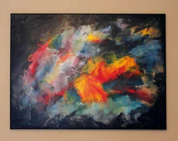 Original Abstract Acrylic Painting - Kaarsa