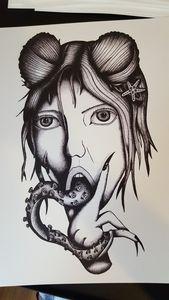 Tentacle Girl Print