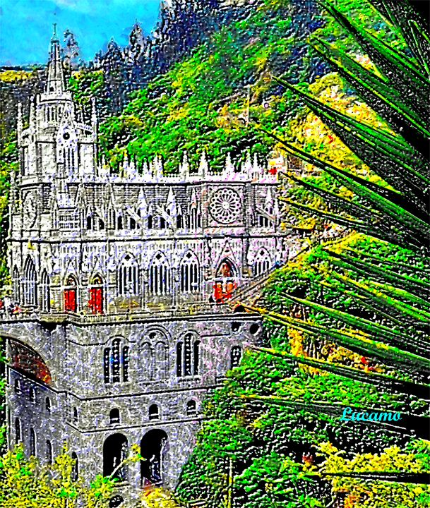 Church Las Lajas - Lucamo: Creating with images