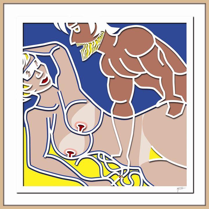 Satyre et Bacchante Cadre ext - Mitch Gallery