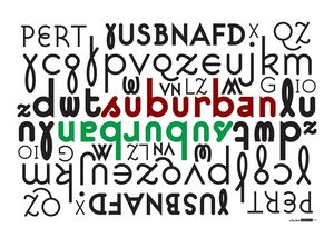 Suburban typeface