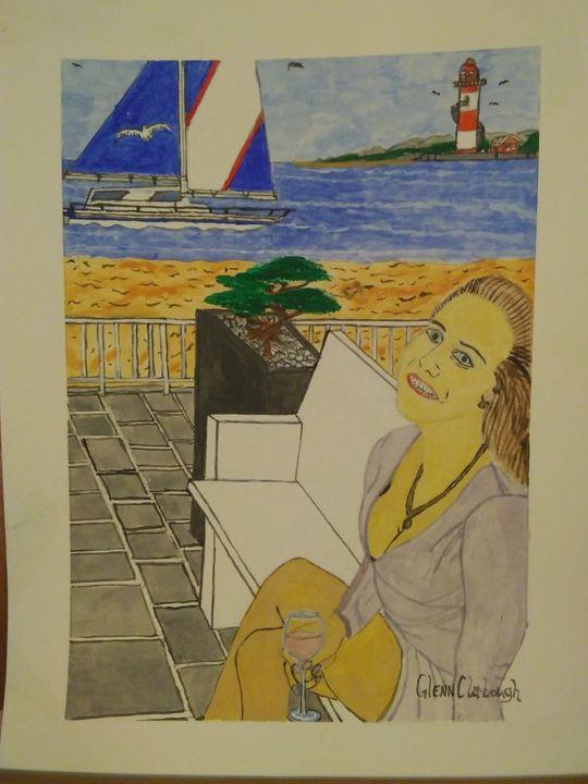Anna in paradise - Art of Glenn Clabough