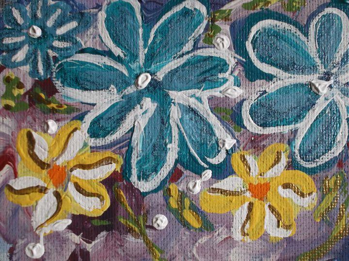 Blue  Sparkle Daisies - Joseph S. Psutka