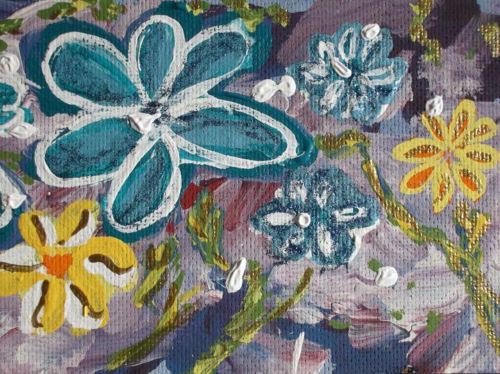 Blue Sparkle Daisies #2 - Joseph S. Psutka