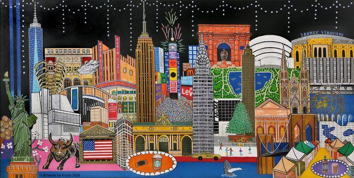 New York City - Artwork by Krysia