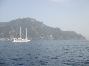 Sailing Schooner in Amalfi