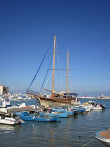 Trani Italy Harbor Schooner