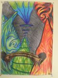 Very colorful abstract drawing