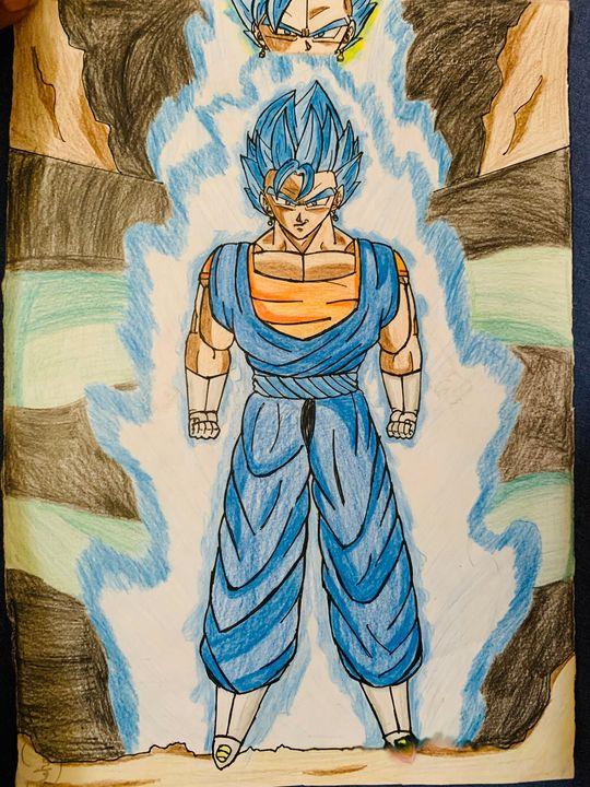 Vegito blue by DBartsite - DB art site