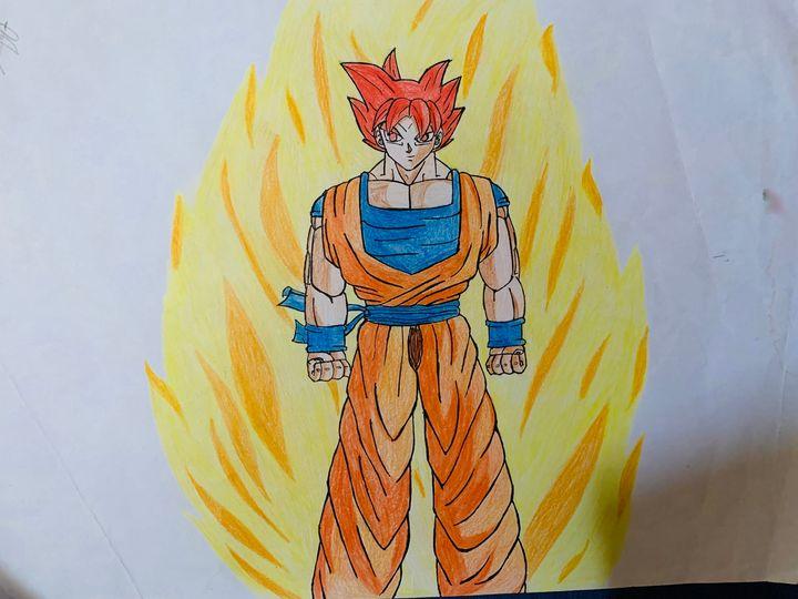 Ssj God Goku - DB art site