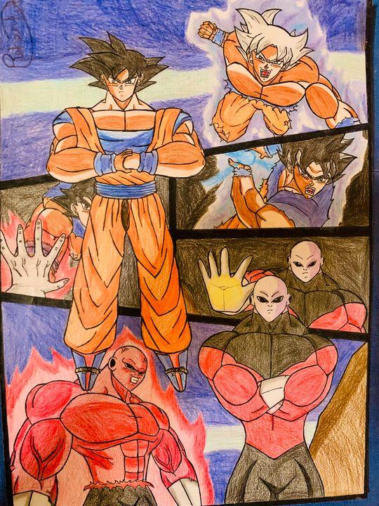 Epic fight of Goku vs Jiren - DB art site