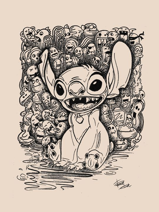 Stitch with his sidekicks - Faiqa Izzati