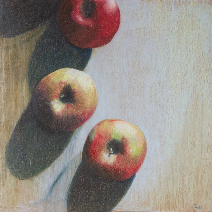 Apples Still Life - The Blue Kazoo Fine Art