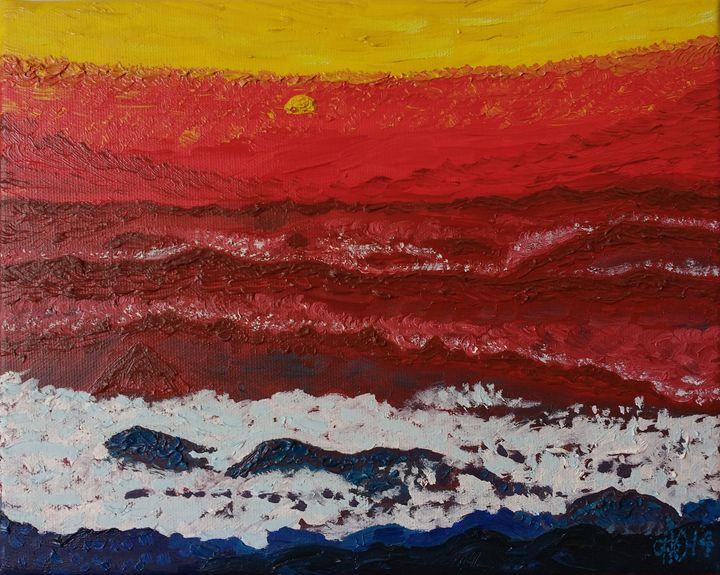 Mountain Peaks - Philip's Oil Paintings