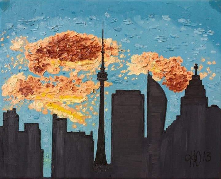Toronto Skyline - Philip's Oil Paintings