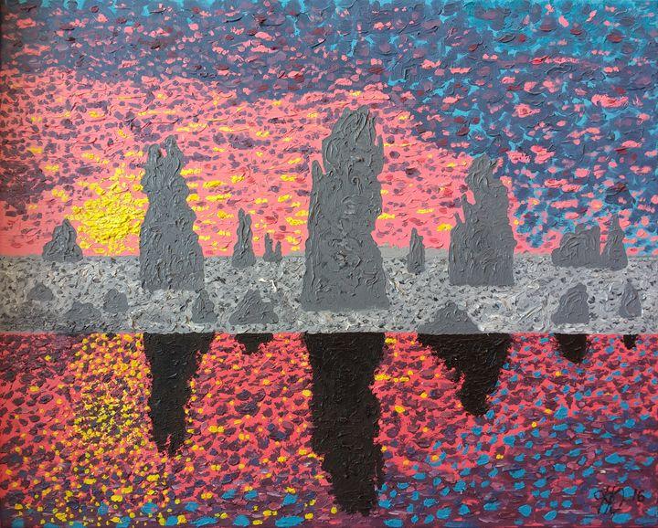 Ocean Rocks - Philip's Oil Paintings