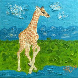 Giraffe's First Steps