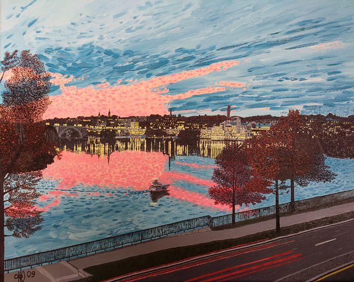 Old Harbor - Philip's Oil Paintings