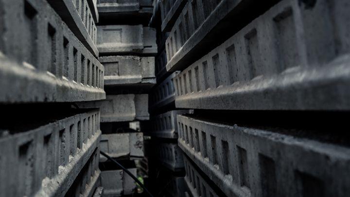 Passage inside a maze of concrete - Maor Winetrob