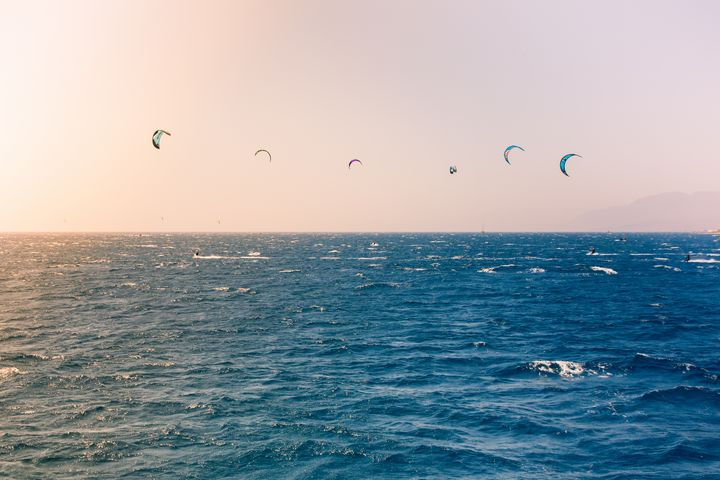 Windsurfers sailing in the Red Sea - Maor Winetrob