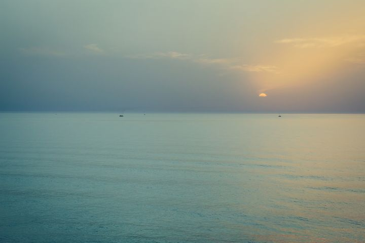 Sunset over the sea - Maor Winetrob
