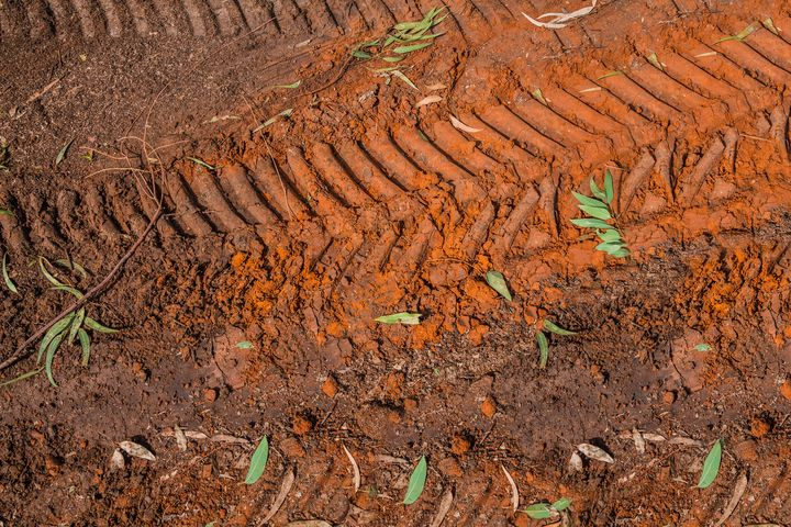 Texture of brown mud - Maor Winetrob