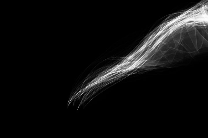 Glowing abstract curved B&W - Maor Winetrob