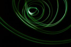 Glowing abstract curved lines