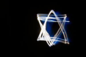 Abstract Star of David shape