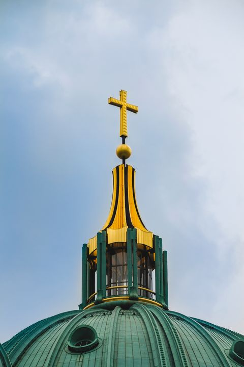 Cross on the top of Berlin Cathedral - Maor Winetrob