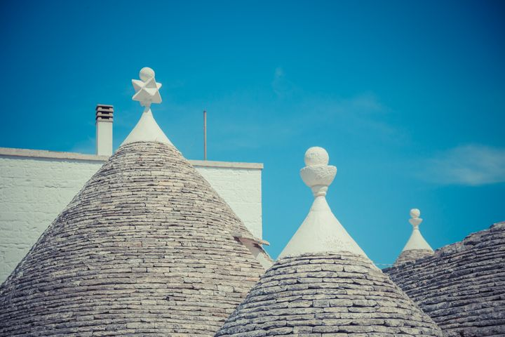 Conical roofs of Trulli houses - Maor Winetrob