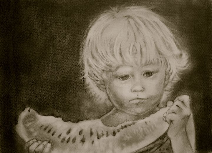 A Bite of Watermelon - Tania's Art