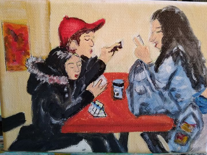 Lunch with friends - Linda Gillespie