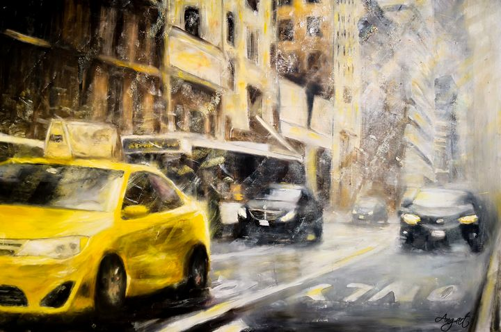 Frosty Morning In The City - Angelique Art