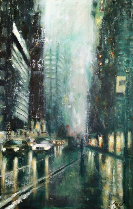 Rainy Evening - Angelique Art