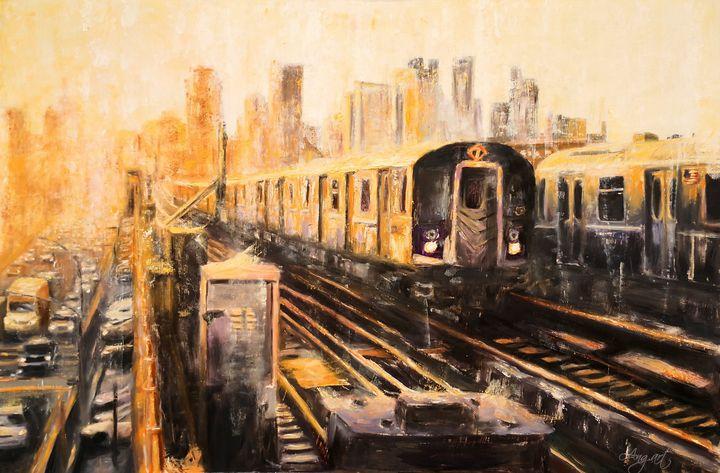 The Night Train - Angelique Art