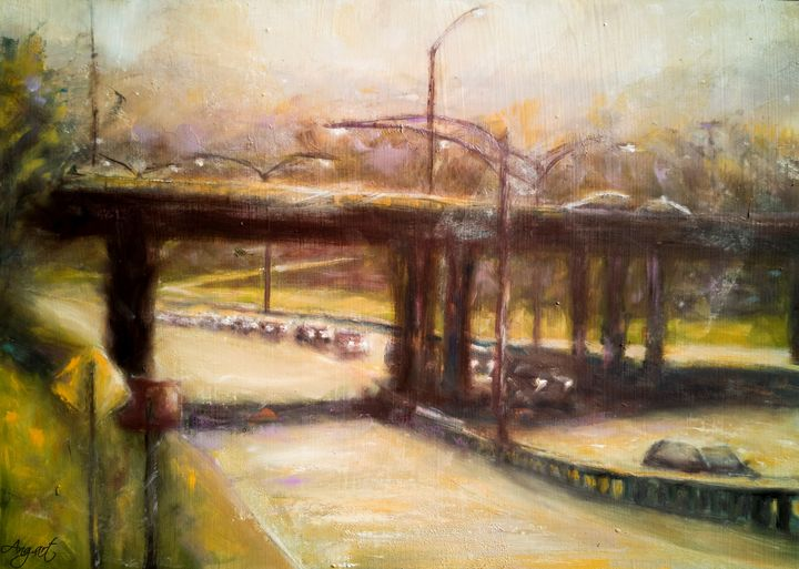 A Sunny Day On The Highway - Angelique Art