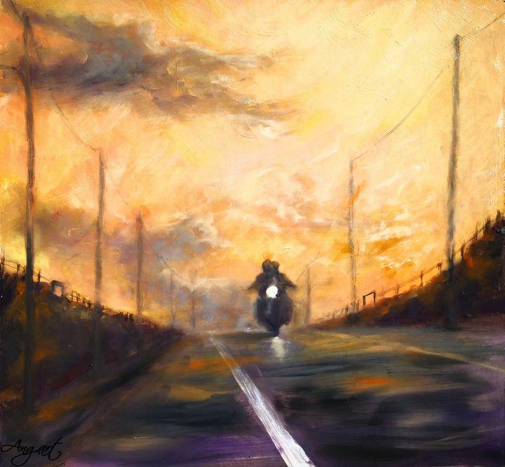 Bikers In The Sunset - Angelique Art