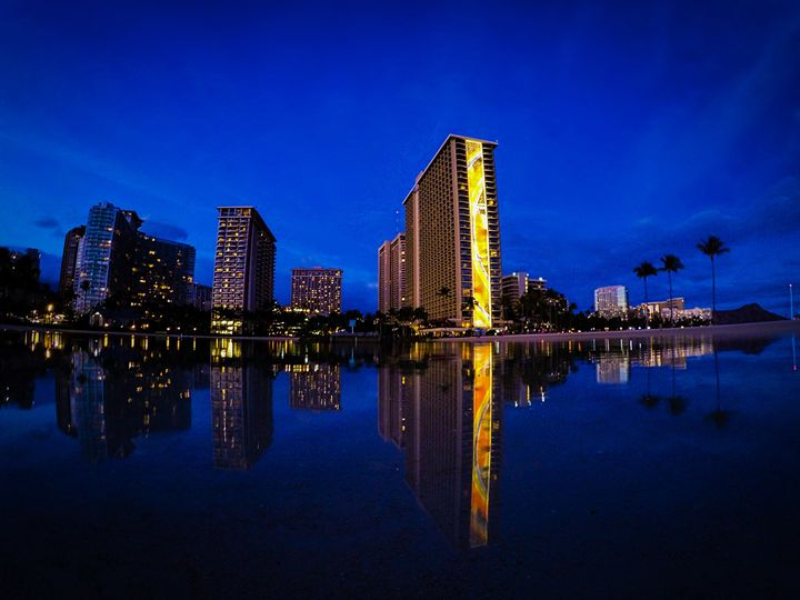 Rainbow Tower Reflection - B_Wongo Photography