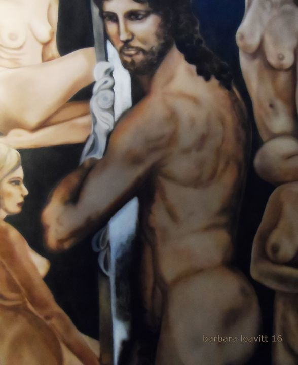 Michelangelo's Christ and Nudes - barbara leavitt