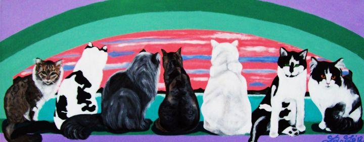 Cats and Sunset - barbara leavitt