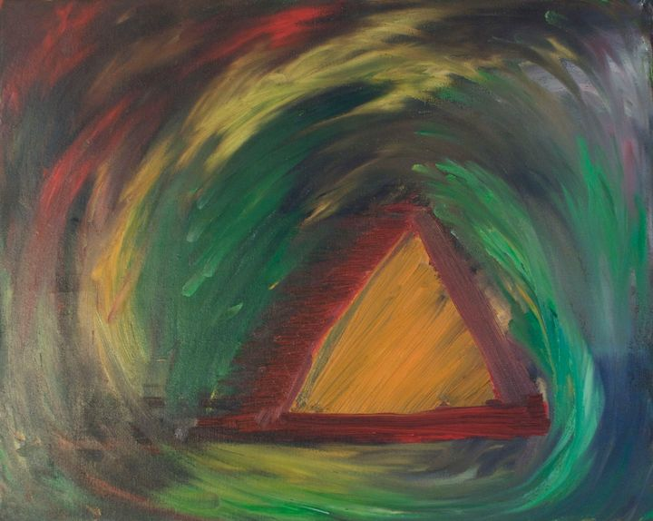 Orange Triangle - Jordan Banion Art