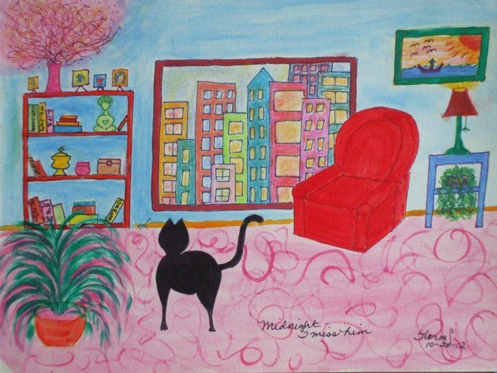 Black Cat Midnight - ArtStorms
