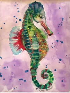 Whimsical Seahorse