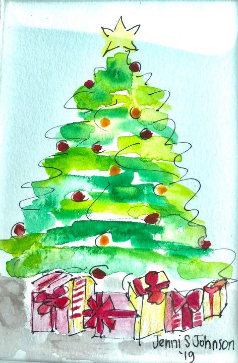Under the Christmas Tree - Jenni J Gallery: by Jenni Sewell Johnson