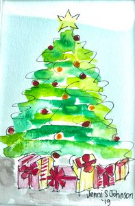 Under the Christmas Tree - Jenni J Gallery: by Jenni Sewell Johnson