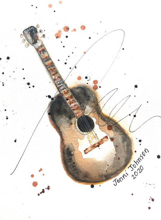 Wynn's Guitar - Jenni J Gallery: by Jenni Sewell Johnson