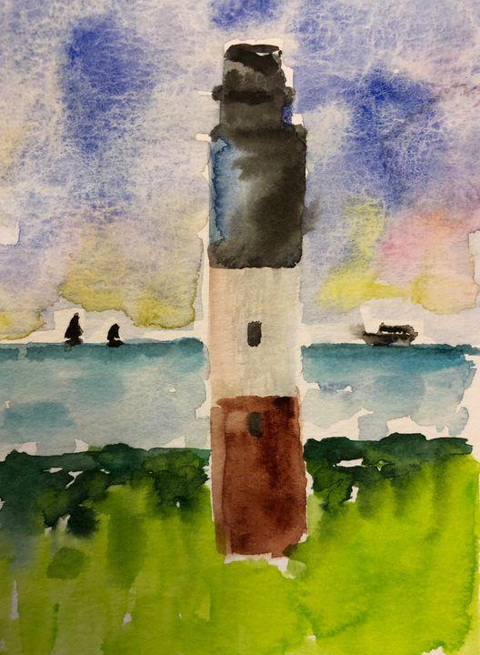 Oak Island Lighthouse - Jenni J Gallery: by Jenni Sewell Johnson