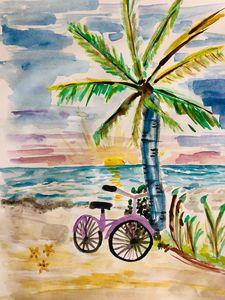 Bike by the Ocean