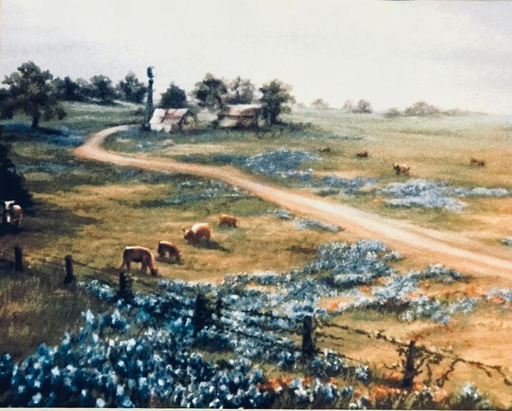 Texas bluebonnets - Dorothy Sitka Studio